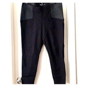 Torrid 2R black skinny dress pants elastic side
